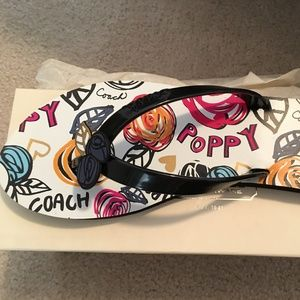 *NEW* Coach Kasey Poppy Scribble thong sandals